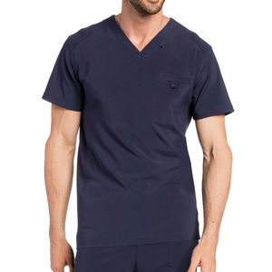 Landau Men's Navy Media V-Neck Scrub Top